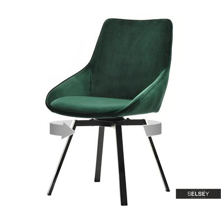 Krzesło Sunrise zielone na czarnej podstawie
