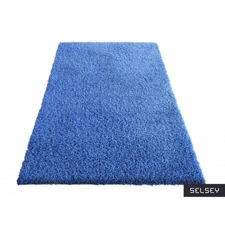 Dywany Shaggy niebieski