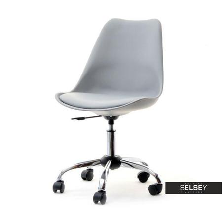 Fotel biurowy Luis move szary do nowoczesnego gabinetu