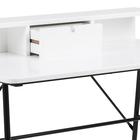 Biurko Brova 100x55 cm białe z czarną podstawą