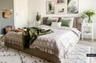 Łóżko tapicerowane Rinus z pojemnikiem