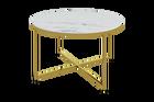 Stolik kawowy Alisma o średnicy 80 cm - złota podstawa