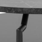 Stolik kawowy okrągły Cernik średnica 80 cm czarny marmur