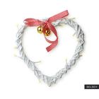 Dekoracja ścienna Vardan w kształcie serca LED 25 cm