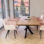 Krzesło Mosterio z podłokietnikami pudrowy róż velvet