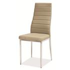 Krzesło tapicerowane Lastad beżowe na błyszczącej podstawie