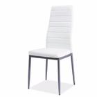 Krzesło tapicerowane Lastad białe na satynowej podstawie