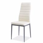 Krzesło tapicerowane Lastad kremowe na satynowej podstawie