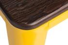 Taboret Paris Wood żółty sosna szczotkowana