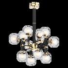 Lampa wisząca Ortona x12 złota transparentna 112 cm