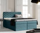 Łóżko kontynentalne Costmary z pojemnikiem na pościel w tkaninie hydrofobowej
