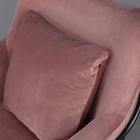 Fotel Tale kubełkowy różowy na czarnej podstawie z wyprofilowanym oparciem