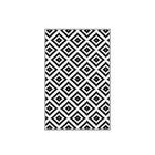 Dywan nowoczesny Calculatt 120x180 cm biało-czarny