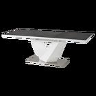 Stół rozkładany Aramoko II 160-220x90 cm szaro - biały