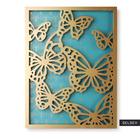 Dekoracja ścienna Farfalla turkusowo-złoty