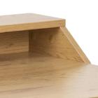 Biurko industrialne Benkari 100x55 cm z nadstawką naturalne