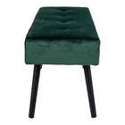 Ławka tapicerowana Belicer 100x35 cm zielony velvet