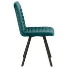 Zestaw dwóch krzeseł tapicerowanych Kimmy butelkowa zieleń na metalowych czarnych nogach