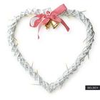 Dekoracja ścienna Vardan w kształcie serca LED 38 cm