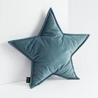 Poduszka dekoracyjna Cozie w kształcie gwiazdy turkusowa