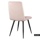 Krzesło tapicerowane Mosterio pudrowy róż velvet