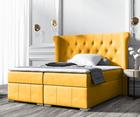 Łóżko kontynentalne Montuno z pojemnikiem na pościel w tkaninie hydrofobowej