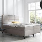 Łóżko kontynentalne Firome z pojemnikiem na pościel w tkaninie hydrofobowej