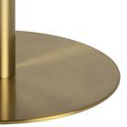 Stolik kawowy okrągły Corbines średnica 80 cm biały marmur na mosiężnej nodze