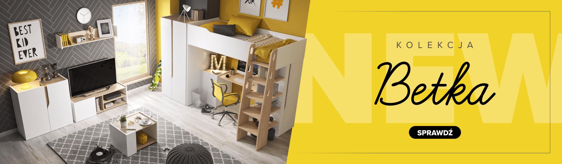 Zestaw nowoczesnych mebli do pokoju dziecięcego z łóżkiem piętrowym, szafą oraz komodą. Praktyczne, sprytnie ukryte biurko doskonale sprawdzi się podczas nauki a przy okazji nie zajmie dużo miejsca.