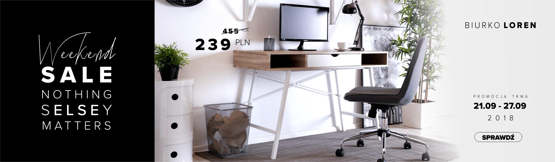 Skandynawskie biurko Loren w promocyjnej cenie.